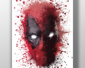 Deadpool A4 Digital painting - signed & limited run of 50