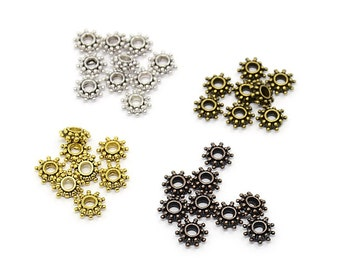 Flower Tibetan Style Spacer Beads * Cadmium Free * Lead Free * Nickel Free * Mixed Colors * 400 pieces * Bead Box Set Kit 038 *