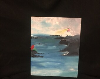 Mermaid at Sea painting