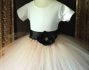Champagne Leotard Flower Girl Dress