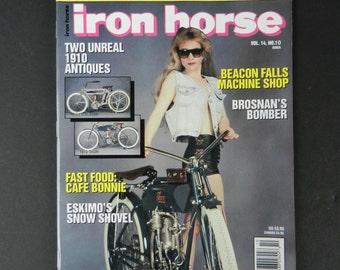 October 1991 Iron Horse Magazine, Issue 101, Motorcycles, Harley Davidson, Harley Shovelhead, Triumph, Thor