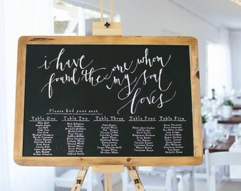 Chalkboard Sign // Seating Chart