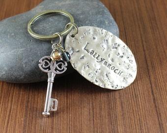 Key to Lallybroch brass keychain ~ Outlander inspired