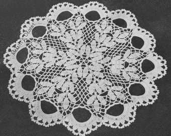 "Beautiful Doily, 11.5"" in Diameter, Unusual and Very Pretty, Vintage Crochet Pattern, INSTANT DOWNLOAD PDF"