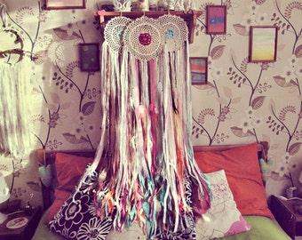 Dip Dye Rainbow Colors Dreamcatcher - Bohemian Dream Catcher - Boho Bedroom - Hippie Nursery - Dreamcatchers Set - Gypsy Decor