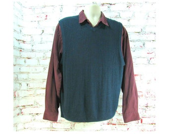 Men's sweater vest,  navy sweater vest, sweater vest - Dockers sweater - preppy sweater vest -    size 2 XL ,   # 214