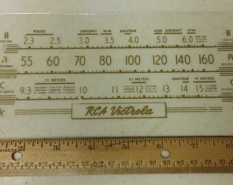 RCA Victrola plate glass for a radio dial, circa the 1940s