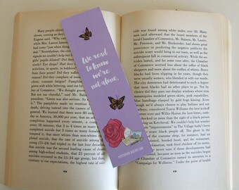 We read to know we're not alone - Quote Bookmark - Pastel Bookmark Collection