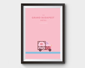 The Grand Budapest Hotel - movie poster, art, print, film, lobby boy, minimal poster, budapest hotel, mendls print
