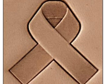 "Cancer Awareness Ribbon 1"" Inch - Leather Stamp Tool 25.4 mm"