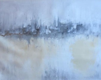 Large Art, Original , Abstract Art, Modern Art, Fine Art, Extra Large wall art, Grey Cream, by Breanna Megan Studio