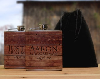 Personalized Gifts for Groomsmen, Custom Flasks for Your Wedding Party