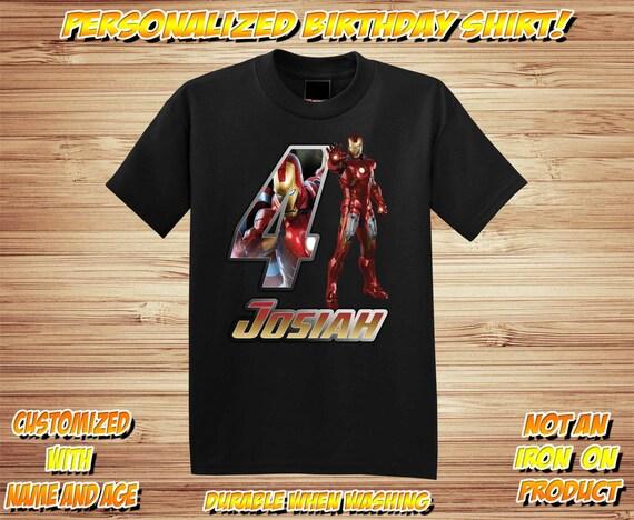 Personalized Iron Man 2 Birthday T Shirt -