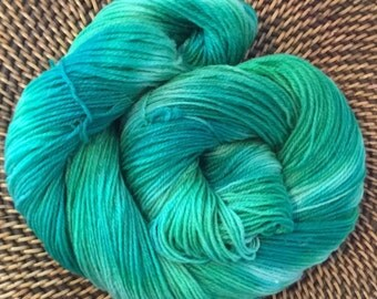 100% Wool Hand Dyed Worsted Weight Yarn - Chinese Jade