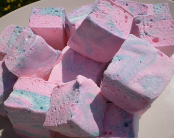 Cotton candy marshmallows swirl pastel kids party birthday shower favors dessert buffet table kids childrens tea party gluten free candy