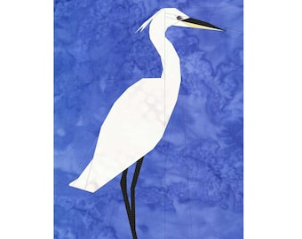Egret- A Foundation Paper Pieced Pattern