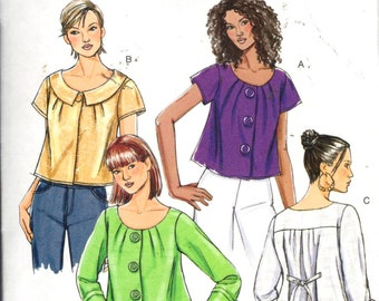 "Butterick 5223, Sz 8-14/Bust 31.5-36"".  EASY Unlined Loose-fiting Cropped jackets with Long/Short Sleeves, Out-of-Print Misses pattern UNCUT"