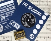 Wedding/ Party Invitations - Vinyl Record Design x 40