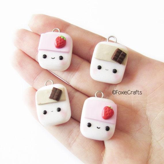 Kawaii Milk Carton (Strawberry Milk, Chocolate Milk)- Cute Kawaii Handmade Polymer Clay Charm