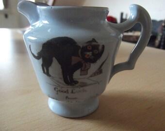 Lucky black cat jug - Ashby-de-la-Zouch