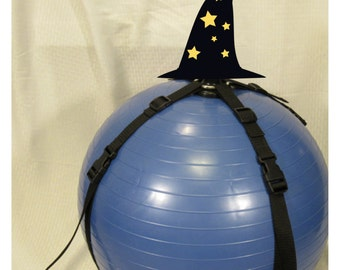 Exercise Ball Dildo Harness. Mature. Vegan Friendly BDSM
