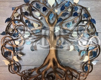 Tree of Life Infinity Tree Wall Decor  Wall Art (Blueberries and Cream)