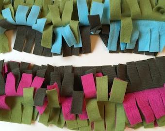 Sugar Glider Jungle Vine - Sugar Bear Cage Accessories - Green Fleece Swing in Pink or Blue