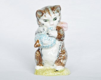 Miss Moppet Beatrix Potter Cat Figurine 1954 - Beswick England Royal Doulton