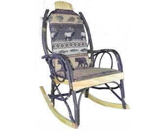 Amish Bentwood Rocker Cushion Set Double-Sided - Elk Run Fabric