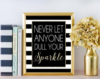 Inspirational Wall Art - Sparkle - 8x10 Sign - Instant Download