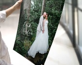 Paper anniversary gift, first anniversary gift for wife, anniversary gift for husband, wedding vows poster