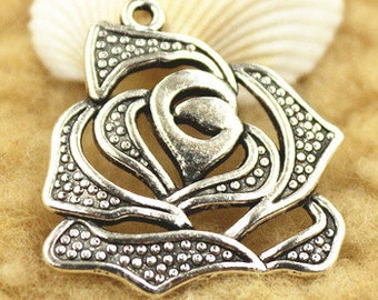 4 - Large Rose Charms
