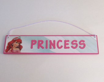 Disney Princess Ariel Room Decor Sign - The Little Mermaid Door Sign - Princess Room Decor - Princess Room Sign