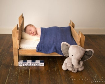 Rustic Reclaimed Wood Bed- Photography Prop