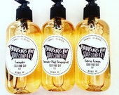 LIQUID HAND SOAP Organic Natural Liquid Soap Lavender Citrus Unscented Lemon Hand Soap Homemade Bath and Body Gift for the Home