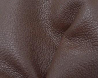 "Walnut Brown Leather New Zealand Deer Hide 8"" x 10"" Pre-cut 4-5 ounces grainy JA-41902 (Sec. 3,Shelf 4,A)"