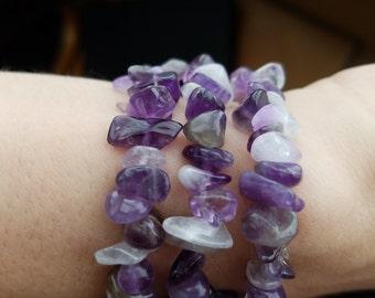 Amethsyt Bracelet, Purple Glass Bracelet, Purple Bead Bracelet, Womens Jewelry, Purple Glass Bead Bracelet, Summer Fashion