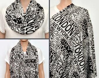 Nursing Scarf, Nursing Cover, Nursing Cover Scarf,  Nursing Infinity Scarf, Gray Infinity Scarf, Breastfeeding Cover, Nursing scarf, London
