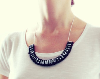 Black & White Safety Pins Necklace
