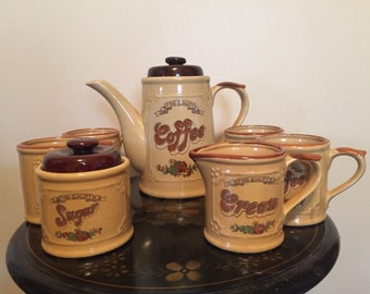 Vintage Coffee Service With Four Cups