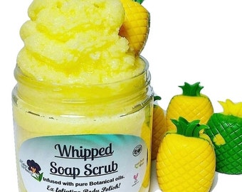 Whipped Sugar Scrub Soap / Pineapple Express / Whipped Soap / Soap Scrub / Body Scrub / Soap Favors / Bridal Shower, Wedding Favors
