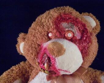 Creepy Cute Plush Zombie Teddy Bear