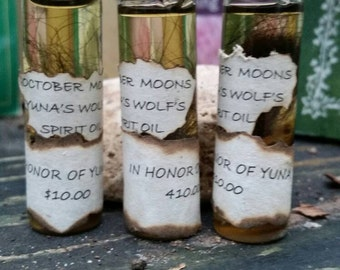 Yuna's Wolf Spirit Oil. Ritual Oil for Communication w/the Wolf Totem & Spirit Guides Made w/ Wolf Fur and Blessings of My Wolf, Yuna.