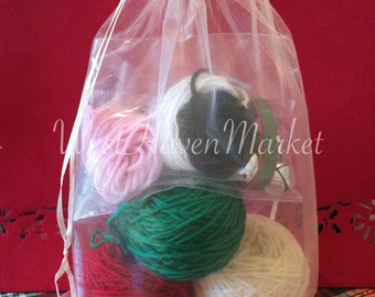 EXTRA YARN for Vintage Personalized  Christmas Stocking Kits - 100% Pure Wool