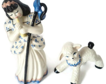 Ceramic Art Studio Of Wisconsin Little Bo Peep And Her Sheep Figurines