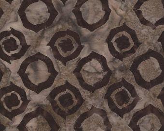 Macchiato Light Brown Ring Batik Fabric