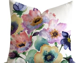 Decorative Pillowscovers, Watercolour Bouquet Pillow Cover, Watercolor Pillow Cases, Designer Pillowcovers, Pillow Cases, Throw Pillow Case