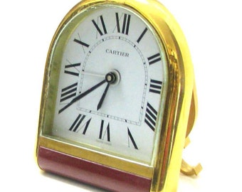 CARTIER, Romane. Office or travel vintage clock