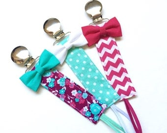 Pacifier Clips - Veronica Collection