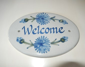 KENTUCKY LOUISVILLE STONEWARE Welcome Sign